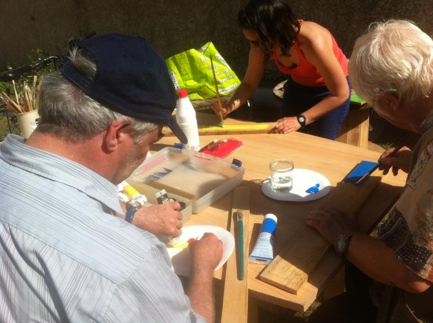 Atelier peinture pour panneauxparcelles