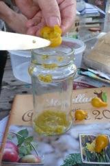 on enlève les graines des petites tomates poires jaunes
